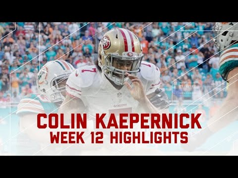 Colin Kaepernick Makes 49ers History!   49ers vs. Dolphins   NFL Week 12 Player Highlights