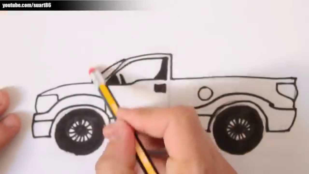 Como dibujar una camioneta - YouTube
