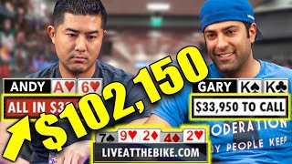$102,000 On the Line: Triple Barrel Bluff!!! ♠ Live at the Bike!