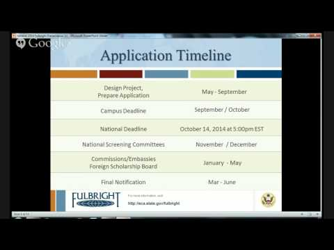 Fulbright U.S. Student Program Information Session with Lee Rivers