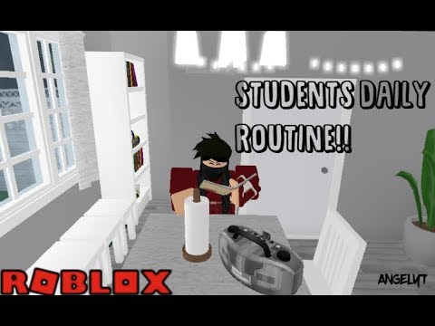 Welcome to Bloxburg: Student's Daily Routine | AngelYT