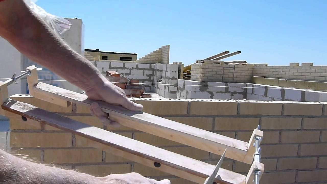 Как сделать шаблон для кладки кирпича своими руками 95