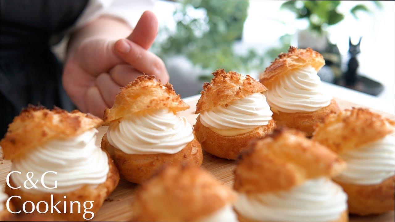 [ASMR] 魅惑のとろけるダブルシュークリームの作り方    ASMR シュークリーム スイーツ お菓子作り