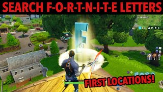 "FORTNITE: *NEW* Search ""F-O-R-T-N-I-T-E"" Letters First Two Locations! Season 4 Battle Pass Tiers"