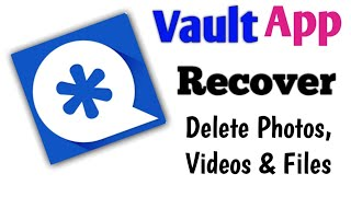 How To Recover Delete Photos,Videos & Files on Vault Delete Data ko Recover kese Kare screenshot 2