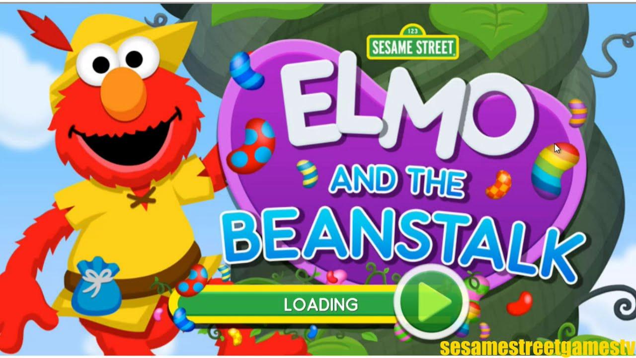 Sesame Street Elmo And The Beanstalk Jumping Game Full ...