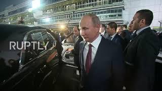Russia: Putin drives el-Sisi around Sochi's Formula 1 circuit