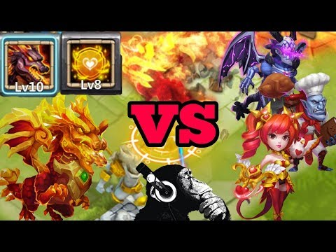 Lavanica | New Dragon | Tenacity | Vs | 15 Top Heroes | Castle Clash