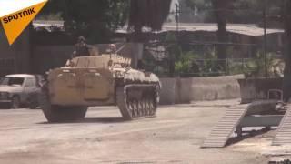 بالفيديو...الجيش السوري يستمر في عمليات عزل القابون