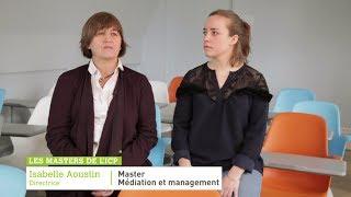 Master Médiation et management d'entreprise