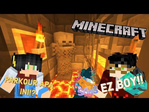 RANEL ABISIN 1 JAM CUMA Di PARKOUR Is LAVA!! #2 |SANS SMP| Minecraft Indonesia