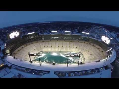 A flyover Lambeau Field with my Phantom 2 Vision +