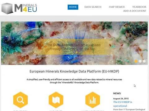 EU-MKDP - European Minerals Knowledge Data Platform and Yearbook