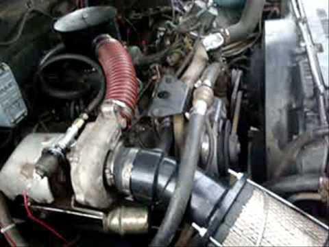 My Turbo On My 1985 Gmc 6 2l Diesel Youtube