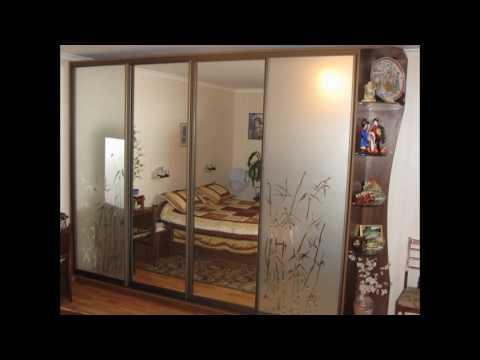 Зеркальный шкаф купе в спальню фото