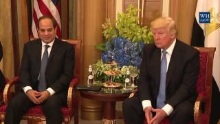 President Trump Meets with the President of Egypt - 5/21/17