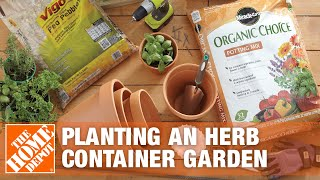 How To Plant An Herb Container Garden - The Home Depot