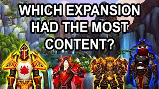 Which Expansion Had The Most Content in World of Warcraft's History?