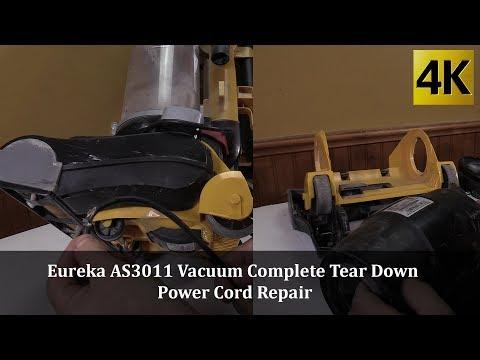 Eureka AS3011A Vacuum Complete Tear Down   Power Cord Repair