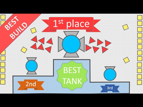 THE PERFECT INVINCIBLE BUiLD!  -Diep.io Best tank configuration! OVERLORD Strategy #1!