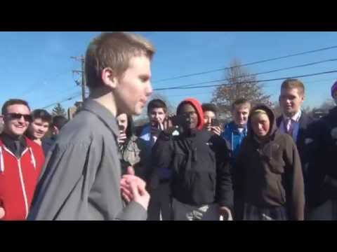 White Kid Kills it in High School Rap Battle Ashtin Larold