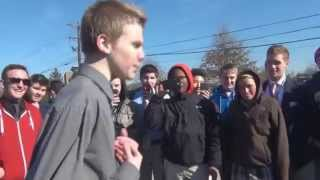 White Kid Kills it in High School Rap Battle