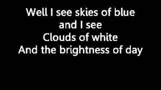 Somewhere Over the Rainbow lyrics - Israel Kamakawiwo'ole