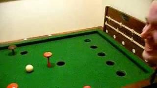 Vic's Bar Billiards Shot.