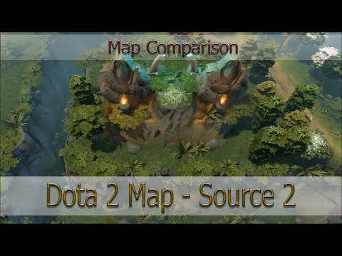 Dota 2 Map On Source 2 [Сравнение карт - Video Comparison]