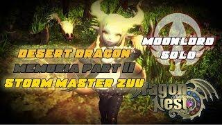 "Lv60 Moonlord ""AikawaKazu"" Storm Master Zuu Solo No Death - DDN Memoria Part II DNSEA"