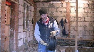 Ремонт старого дома(видео №37)Совет как быстро и аккуратно напилить вязальную проволоку