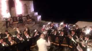 "Mount Charles Band - ""1812 Overture"" at the Minack Theatre, Sat 28th Sept 2013."