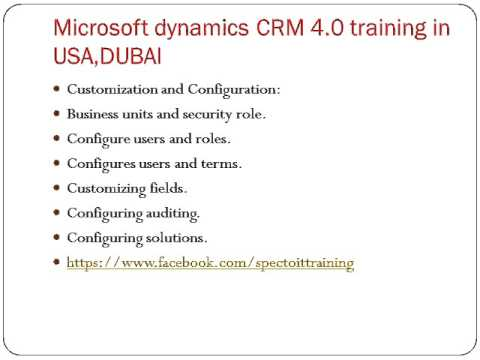 Microsoft dynamics CRM 4 0 training in USA DUBAI
