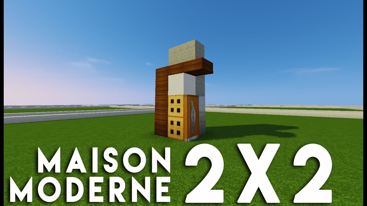 Minecraft tuto construction d 39 une petite maison moderne 2x2 youtube for Photo maison moderne