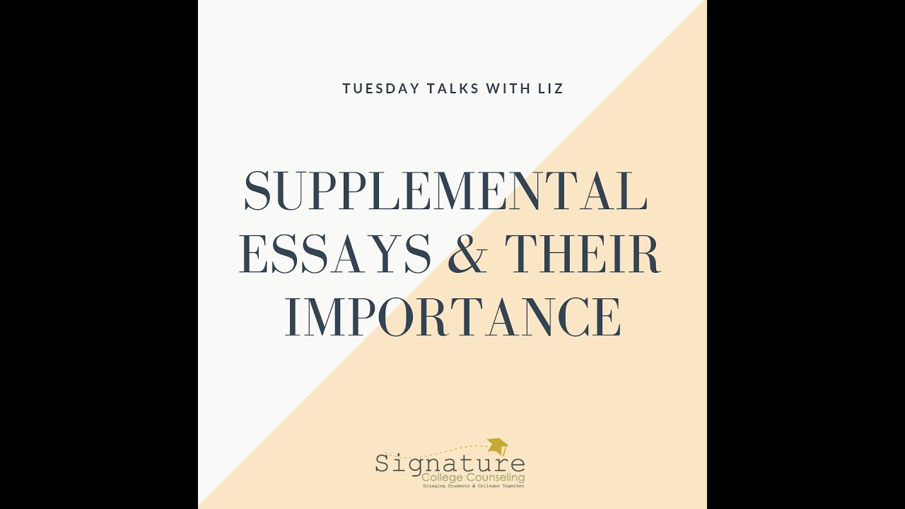 College supplemental essays