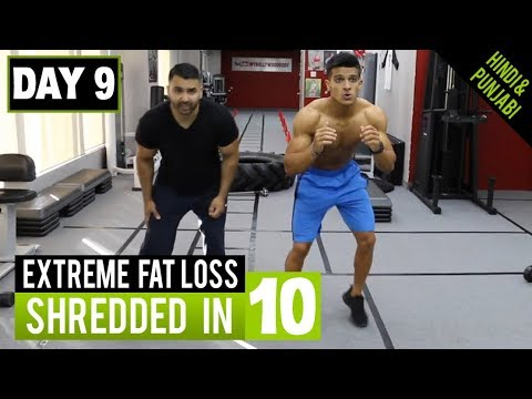 MEN'S FAT LOSS 1HR WORKOUT! DAY-9 (Hindi / Punjabi)