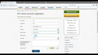 How to open Demo Account Bangla Tutorials