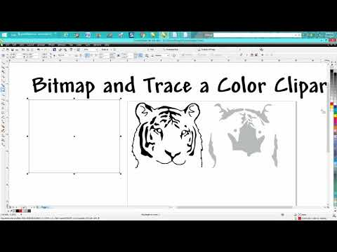 Corel Draw Tips & Tricks Bitmap and Trace a color Clipart
