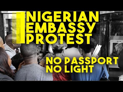 MUST WATCH: Nigerians Protest At Nigerian Consulate In New York City