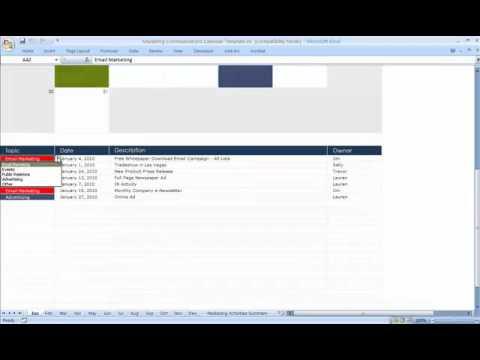 Marketing Communications Calendar Template YouTube - Communications calendar template