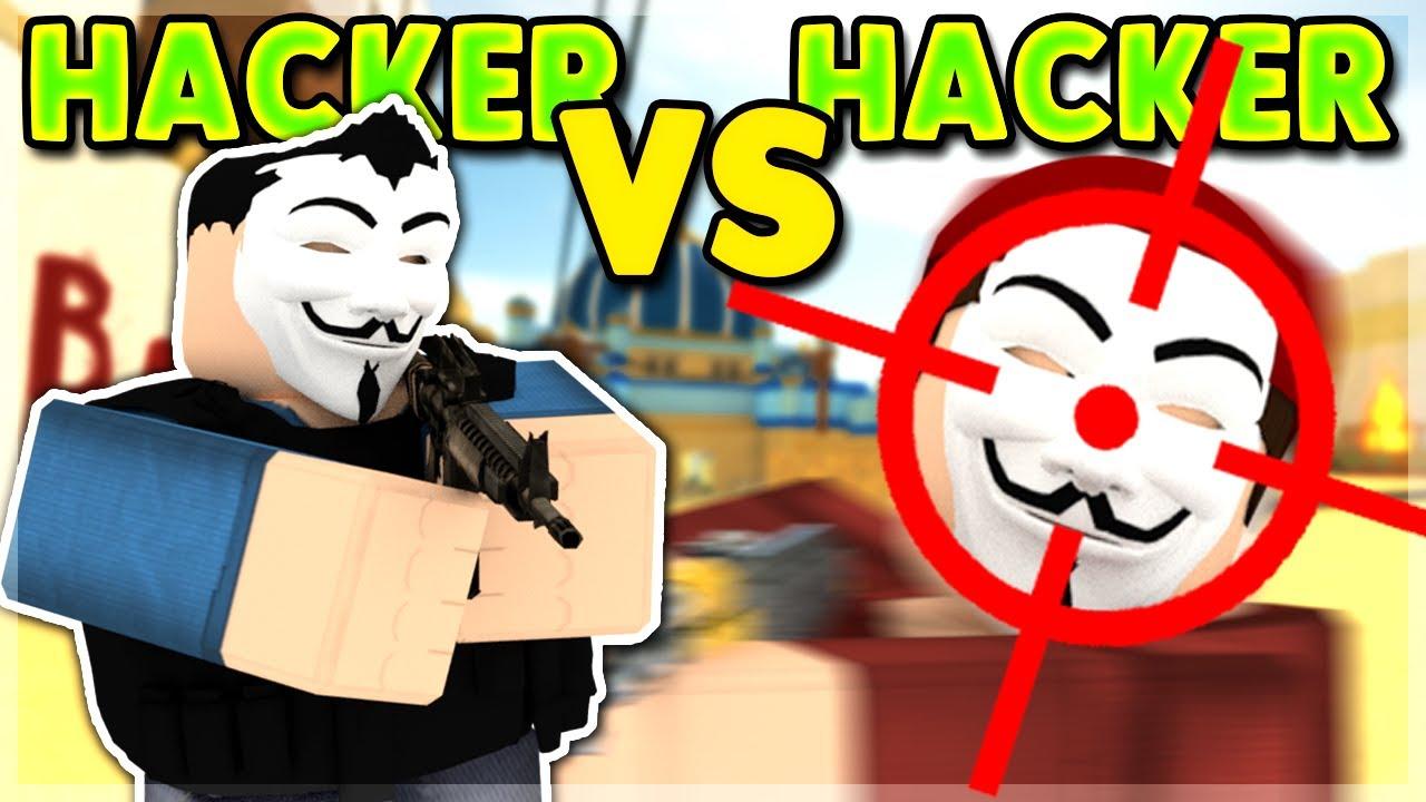 hacker vs hacker aimbot vs aimbot roblox arsenal