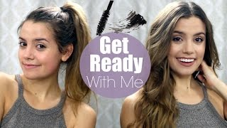 Get Ready With Me: Everyday Makeup + Hair | Natural Glam & Loose Waves