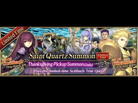 Fate Grand Order | Thanksgiving Event Summoning for Gilgamesh! (INSANE PULLS!!!)