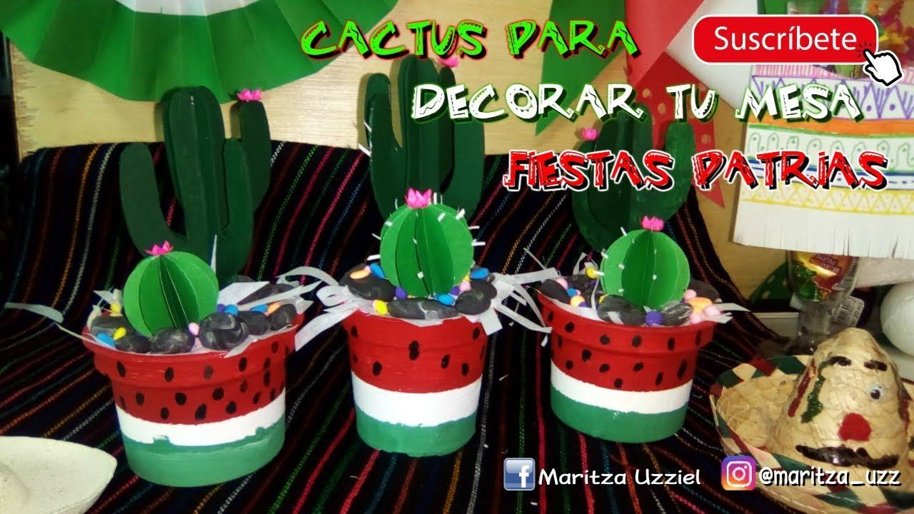 ideas para centros de mesa Cactus De Cartn Centro De Mesa Ideas Para Decorar