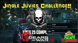 Gears of War 4 Gearsmas Horde event, Jingle Juvies Challenge on Fallout map as Engineer Class