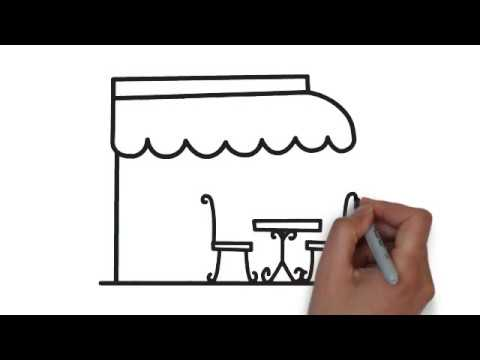 How To Draw A Home Cafe Very Easy Step By Step Draw For Kids
