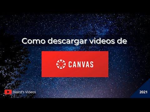 Cómo descargar videos de la plataforma CANVAS   Clases Virtuales   2021