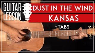 Dust In The Wind Guitar Tutorial 🎸Kansas Guitar Lesson |Fingerpicking + TAB