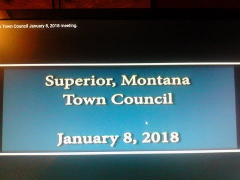 Superior Montana Town Council January 8, 2018 meeting.