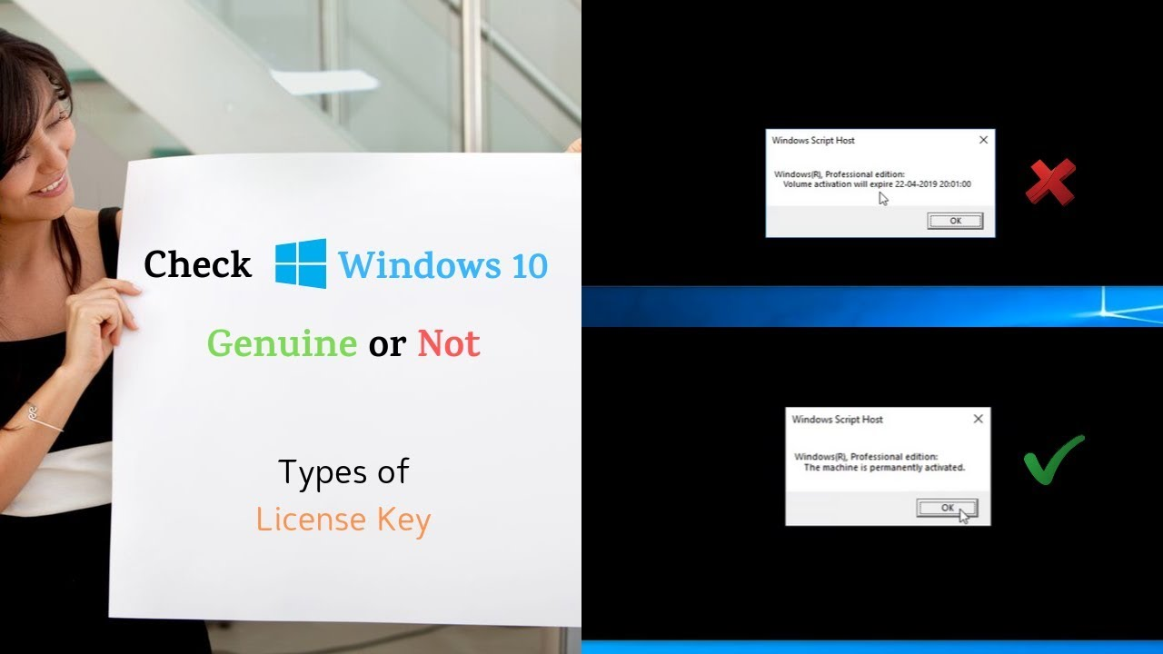 Check Windows 10 Genuine or not   Types of Windows License Key 🔑